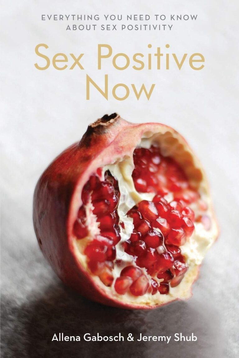 """Cover of """"Sex Positive Now"""" anthology featuring an image of an open pomegranate"""